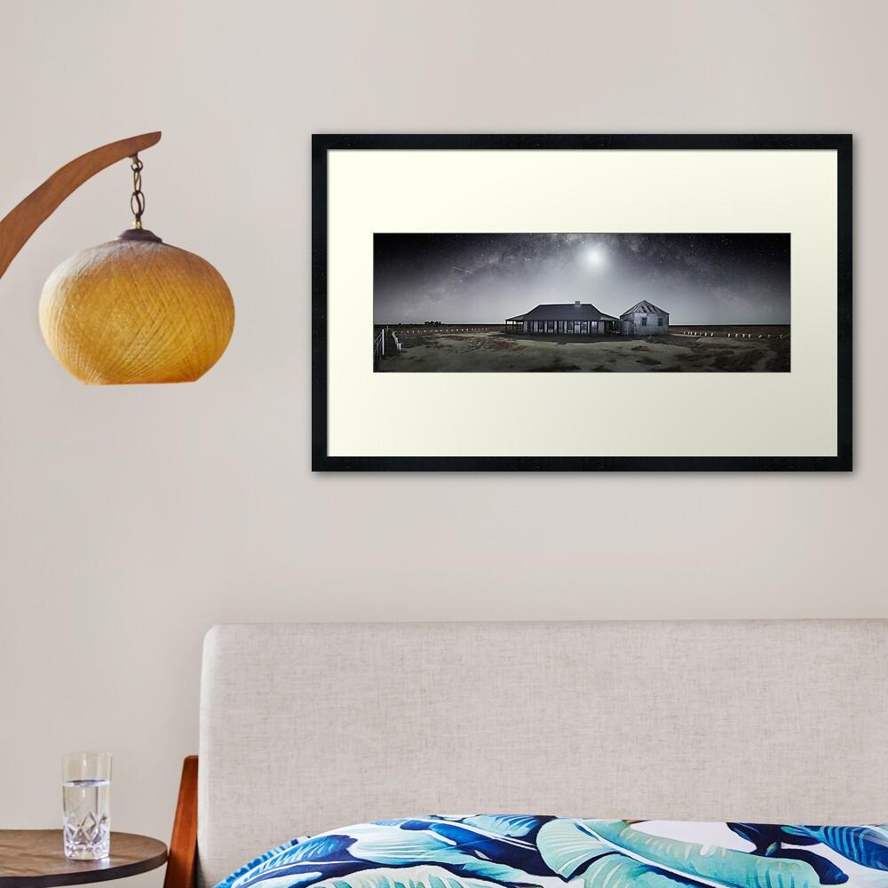 Moonrise, One Tree Hotel, Hay, New South Wales, Australia Framed Art Print