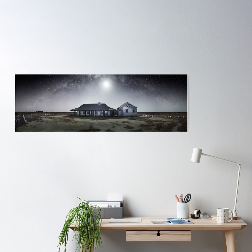 Moonrise, One Tree Hotel, Hay, New South Wales, Australia Poster