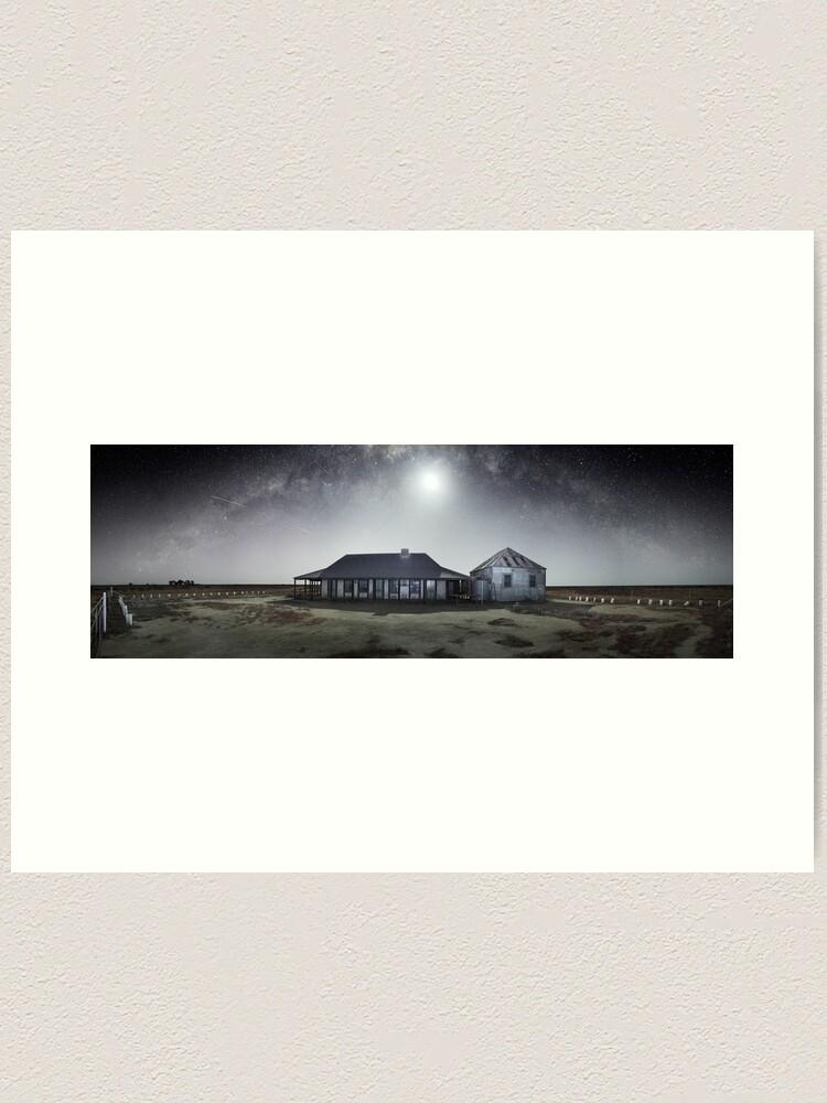 Alternate view of Moonrise, One Tree Hotel, Hay, New South Wales, Australia Art Print