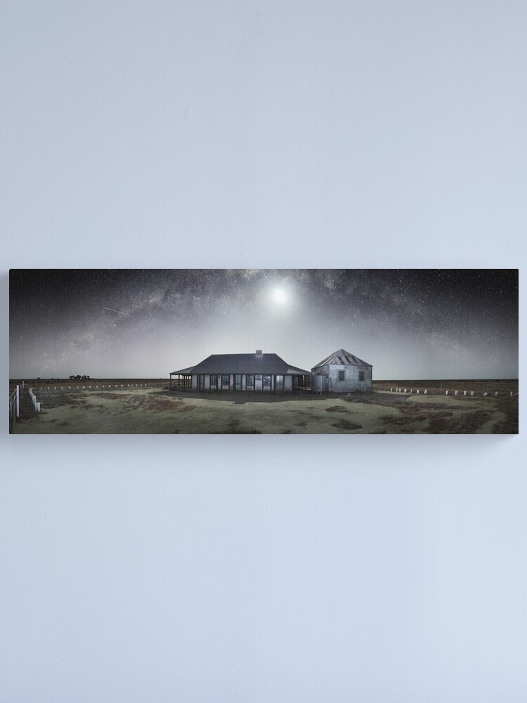 Alternate view of Moonrise, One Tree Hotel, Hay, New South Wales, Australia Canvas Print