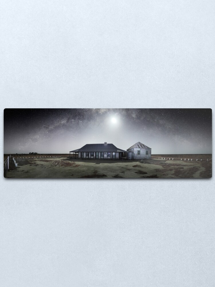 Alternate view of Moonrise, One Tree Hotel, Hay, New South Wales, Australia Metal Print