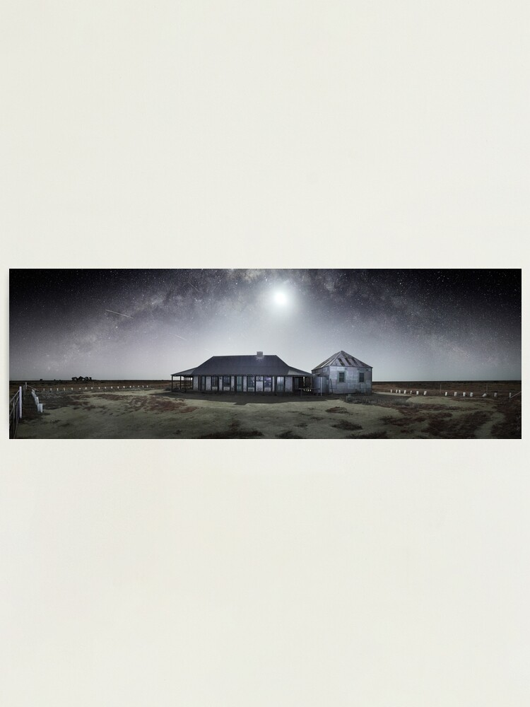 Alternate view of Moonrise, One Tree Hotel, Hay, New South Wales, Australia Photographic Print