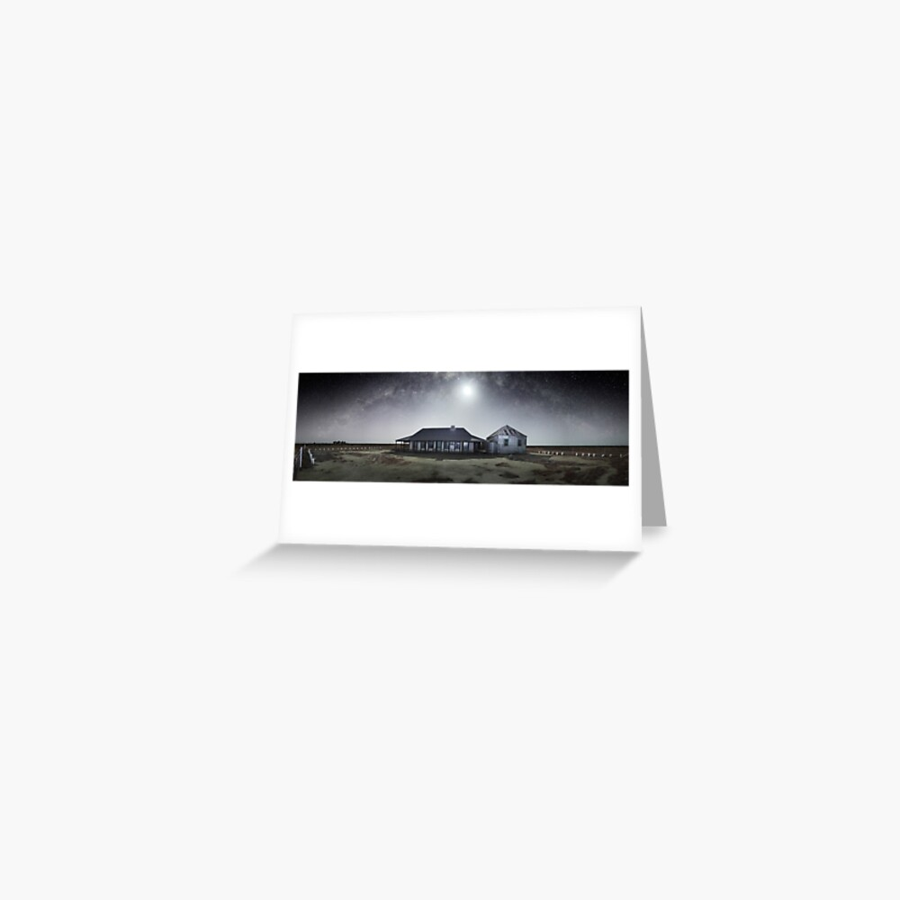 Moonrise, One Tree Hotel, Hay, New South Wales, Australia Greeting Card