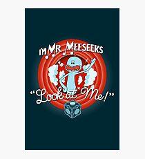 Merrie Mr. Meeseeks - shirt Photographic Print