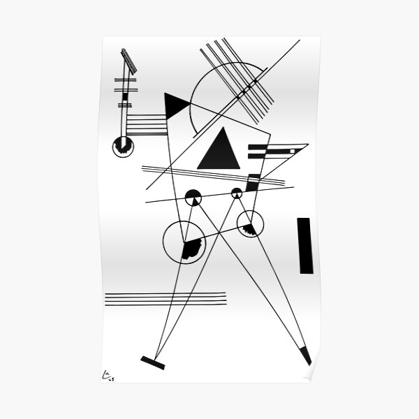 Kandinsky Drawing for Point and Line to Plane 1925 Artwork Reproduction, Design for Posters, Prints, Tshirts, Men, Women, Kids, Youth Poster