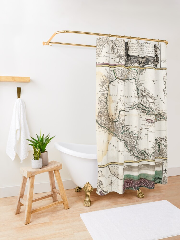 Alternate view of Map of the Caribbean (1781) Shower Curtain