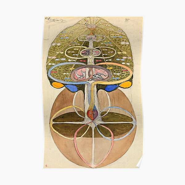 "Hilma af Klint ""Tree of Knowledge No. 1 (1913)"" Poster"