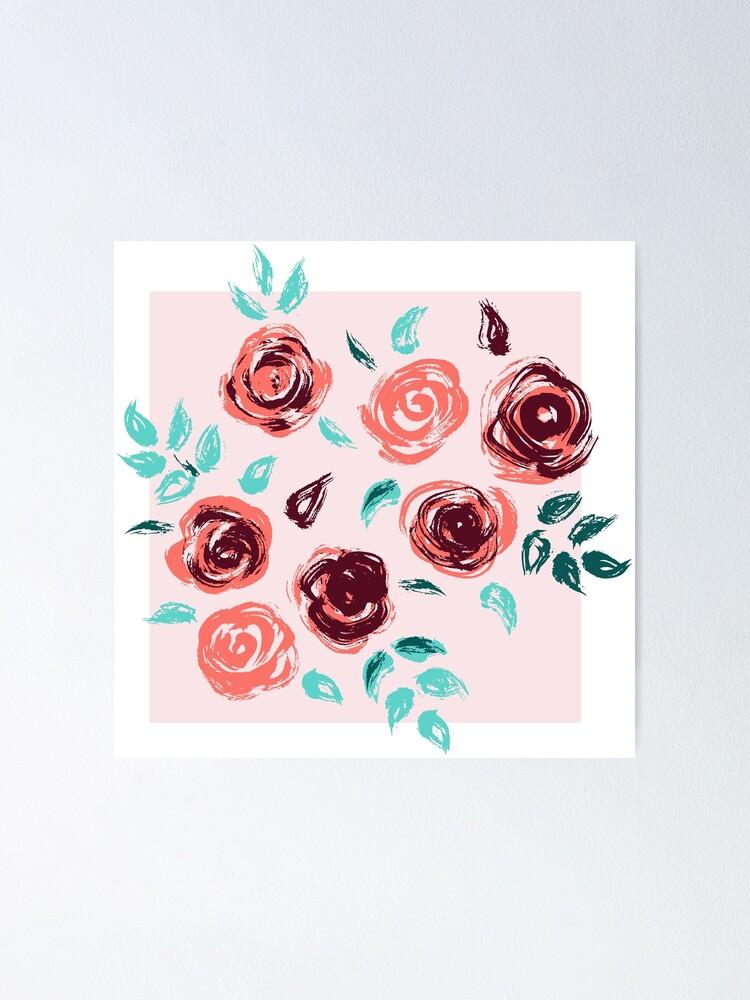 Alternate view of Brushstroke Roses Poster
