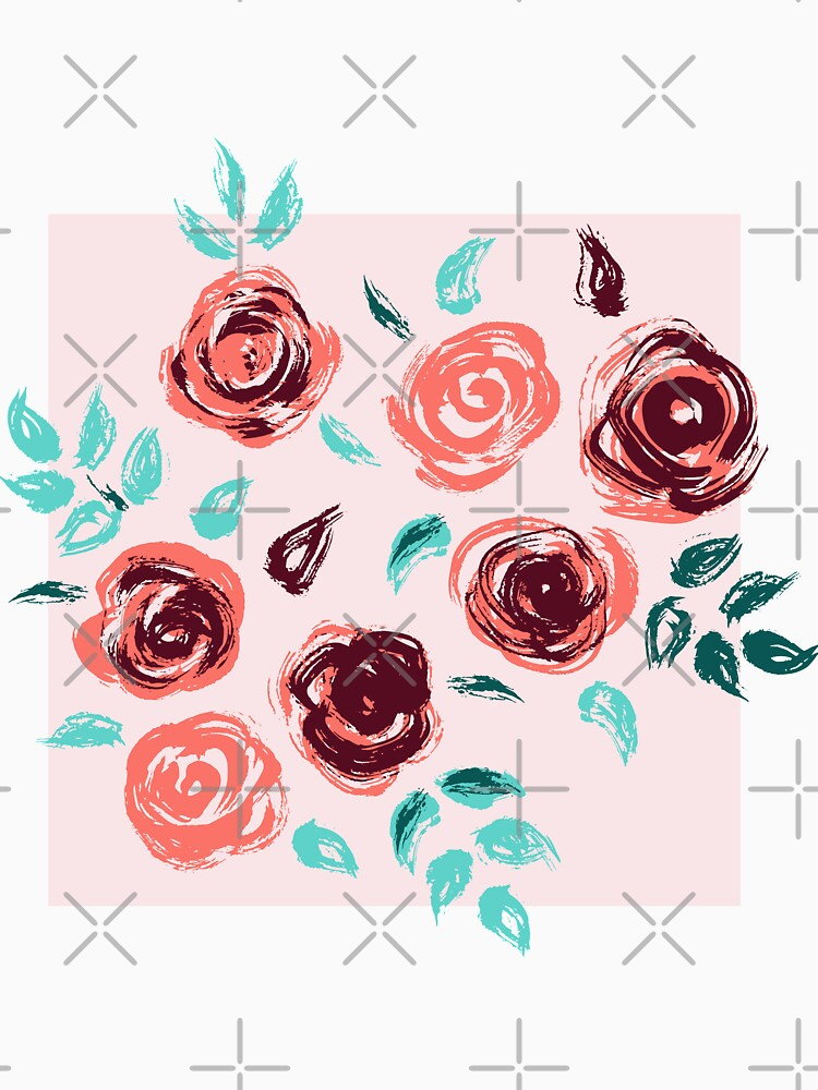 Brushstroke Roses by nadyanadya