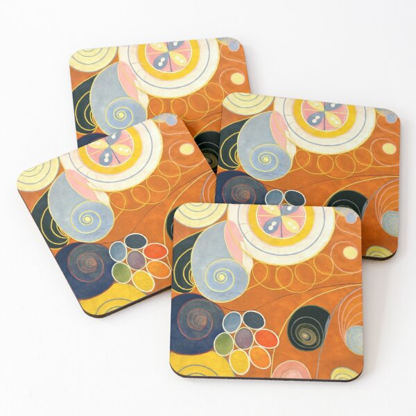 """Hilma af Klint """"The Ten Largest, No. 03, Youth, Group IV"""" Coasters (Set of 4)"""