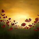 Poppies in the Rising Sun by Cherie Roe Dirksen
