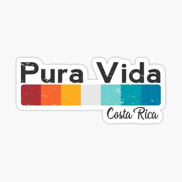 Pura Vida Costa Rica - Vacaciones Verano Divertido Diseño Pegatina