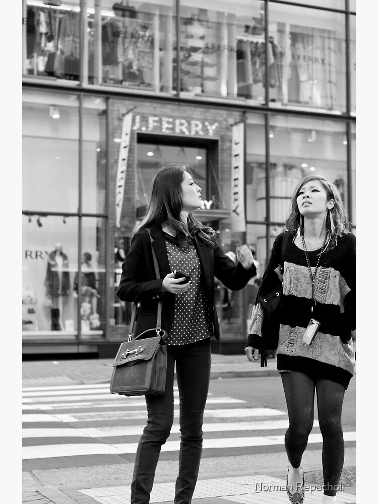 Shoppers' contemplation - Tokyo, Japan by keystone