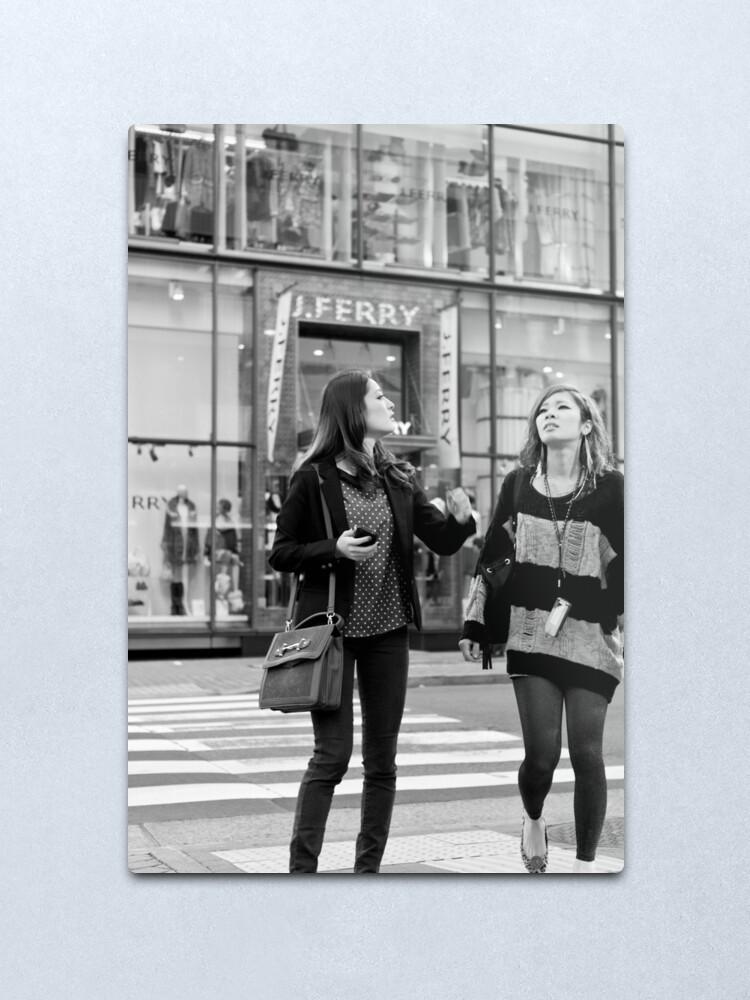 Alternate view of Shoppers' contemplation - Tokyo, Japan Metal Print