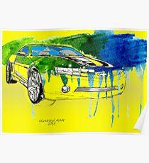 Bumblebee Transformers Cavarro Car Poster