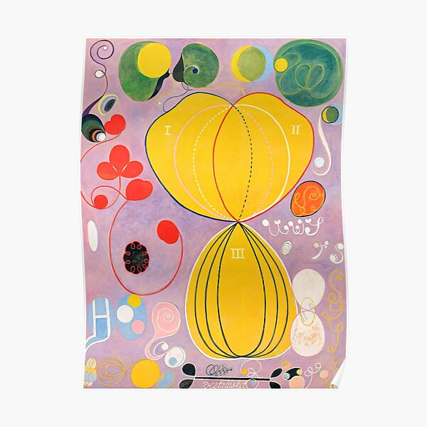 "Hilma af Klint ""The Ten Largest, No. 07, Adulthood, Group IV"" Poster"