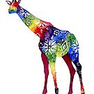 Flower Power Giraffe - Tropical colours by AuntieBetty