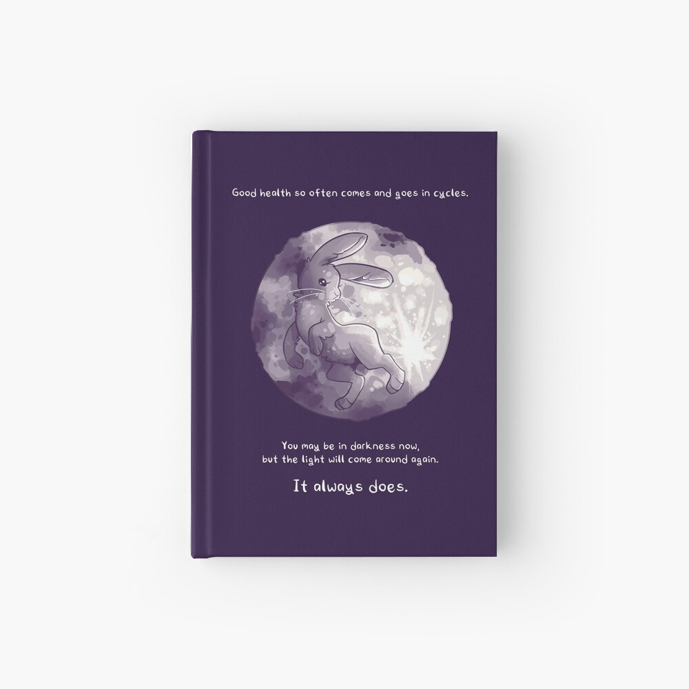 """""""The Light Will Come Around Again"""" Moon Rabbit Hardcover Journal"""