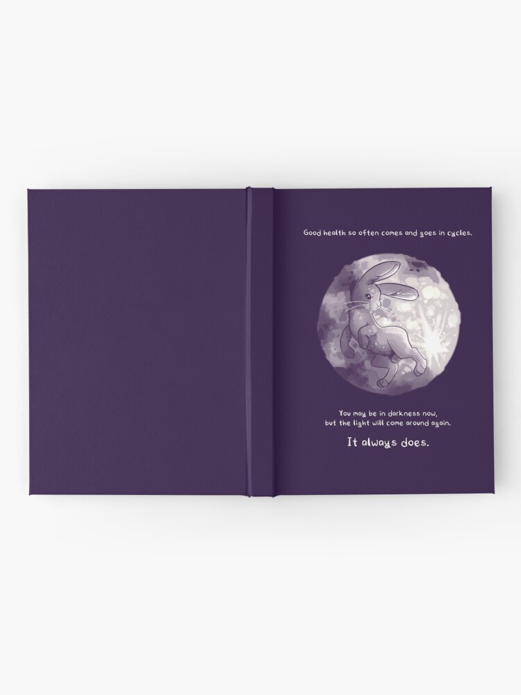 """Alternate view of """"The Light Will Come Around Again"""" Moon Rabbit Hardcover Journal"""
