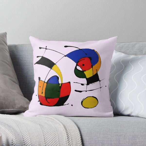 In The Style of Joan Miro Throw Pillow