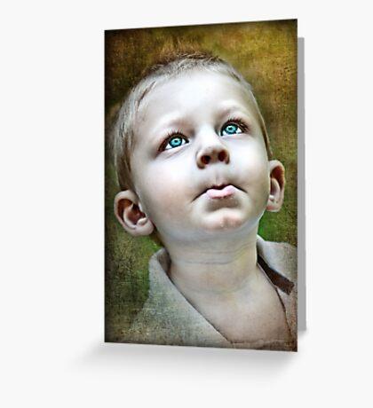 Little Boy Blues Greeting Card