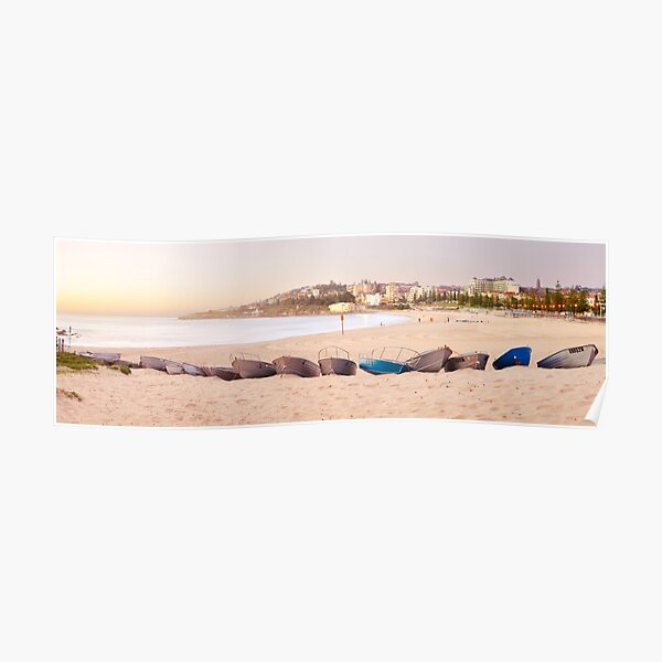 Coogee Beach Boats, Sydney, New South Wales, Australia Poster