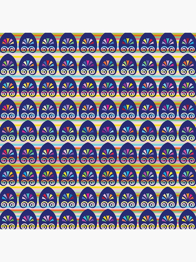 Multicolored fans and stripes pattern by oknoki