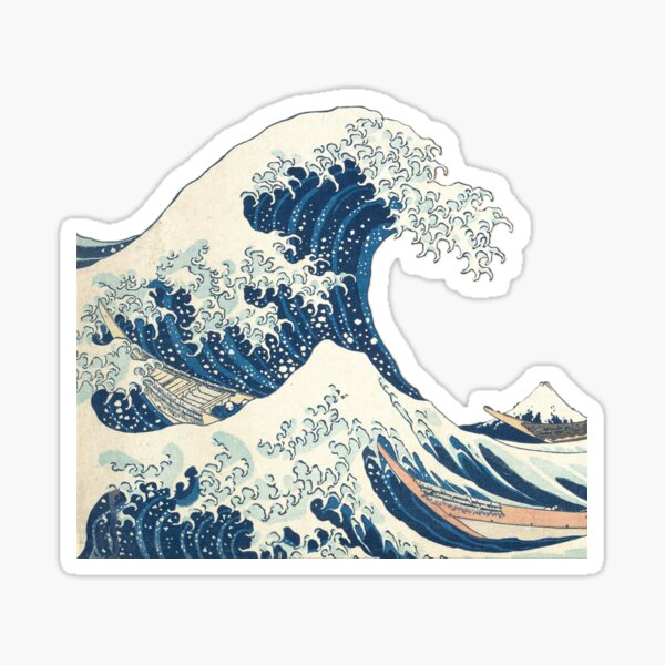 Great wave Sticker