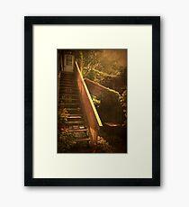 The Courtyard - (Mangiacake Panini Shoppe) Framed Print