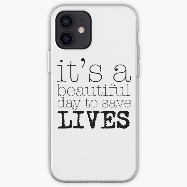 Beautiful day (white) iPhone Soft Case