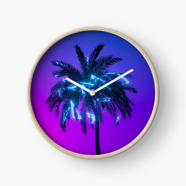 """""""Neon Palm"""" Clock"""