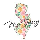 New Jersey State | Floral Design with Roses von PraiseQuotes