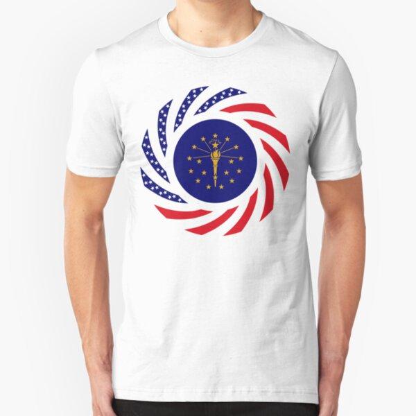 Indiana Murican Patriot Flag Series Slim Fit T-Shirt