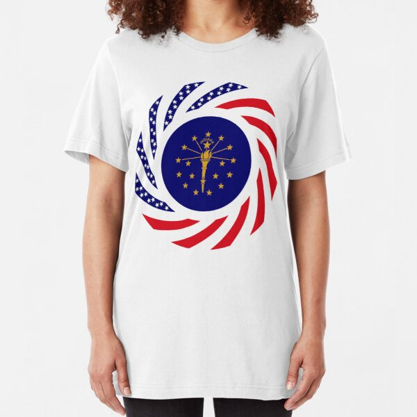 Indiana Murican Patriot Flag Series Slim Fit T-Shirt