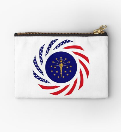 Indiana Murican Patriot Flag Series Zipper Pouch