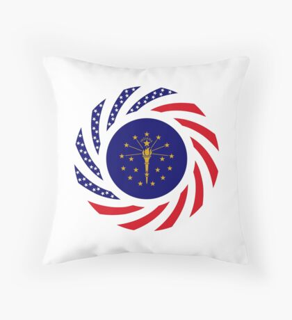Indiana Murican Patriot Flag Series Throw Pillow