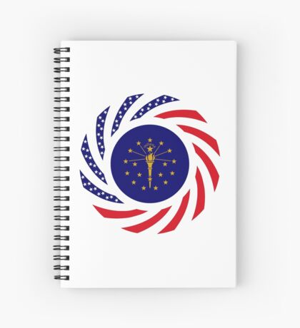 Indiana Murican Patriot Flag Series Spiral Notebook
