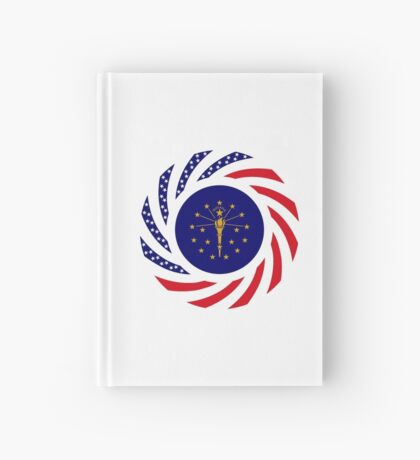 Indiana Murican Patriot Flag Series Hardcover Journal