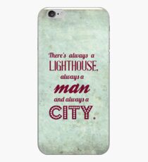 Bioshock quote - There's always a lighthouse, always a man and always a city. iPhone Case