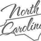 North Carolina State | Simple Design in Gray with Modern Typography von PraiseQuotes