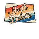 North Dakota State | Colorful Retro 70s Design von PraiseQuotes