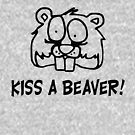 «FUNNY T SHIRT BE KIND TO ANIMALS KISS A BEAVER RUDE» de goplak79