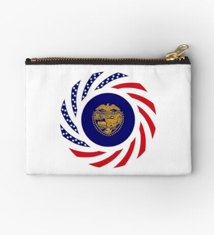 Oregon Murican Patriot Flag Series Zipper Pouch