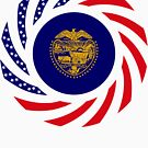 Oregon Murican Patriot Flag Series by Carbon-Fibre Media