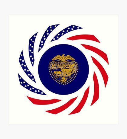 Oregon Murican Patriot Flag Series Art Print