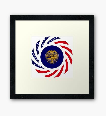 Oregon Murican Patriot Flag Series Framed Print