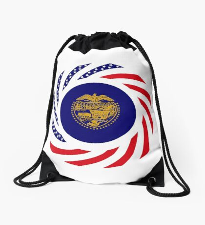 Oregon Murican Patriot Flag Series Drawstring Bag