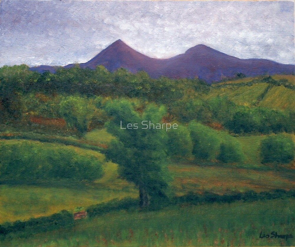 Twilight Over The Mournes by Les Sharpe