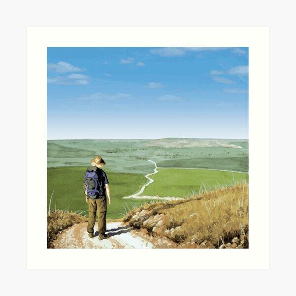 The Long Road Ahead. Art Print