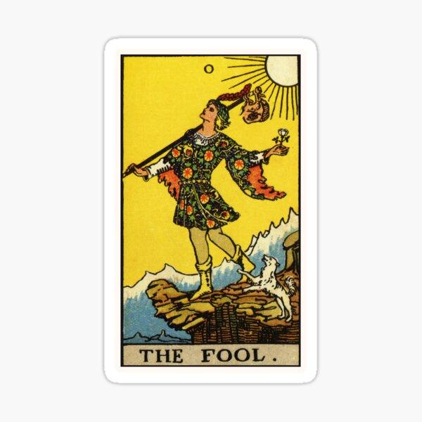 0. The Fool Tarot Card Sticker